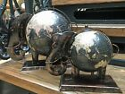 Fair Trade Decorative Elephant Black Globe Vintage World Map Small & Large