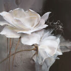 "36W""x36H"" WEALTH OF FLOWERS by WILLEM HAENRAETS - WHITE FLORAL CHOICES of CANVAS"