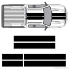 """Ford F-150 F-250 F-350 10"""" Solid Racing Stripes 3M Vinyl Decal Kit 10in 10 inch"""