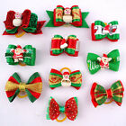 20/80pcs Christmas Pet Dog Puppy Cat Hair Bows Grooming Accessories Xmas GIft