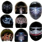 Motorcycle Decals, Street Cool Funny Stickers for Helmet Shield Visor Decoration