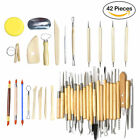 18/30/40/42pcs Clay Sculpting Set Carving Pottery Tools Shapers Polymer Modeling image