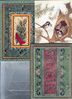 Cards AH25 Greeting postcards used Christmas decoations Set 4 pcs