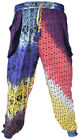 Tie Dye Cotton Psychedelic Light Trousers Casual Lounge Hippie Bohemian Pants