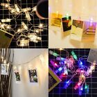 LED Phoyo Clip String Fairy Light with 40 Photo Clip Pegs Home Bar Cafe Decor