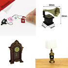 New 1:12 Scale Dollhouse Miniatures Telephone/Clock/Desk Lamp/Phonograph