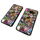 STICKERBOMB VANS COLLAGE BLACK PHONE CASE COVER fits iPHONE / SAMSUNG (BH)