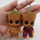 Hot 2PC Guardian of the Galaxy Vol.2 Baby Groot Key Chain Figure Statue  Keyring