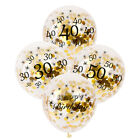 1st 30 40 50th Happy Birthday Number Confetti Filled Balloons Party Decorations