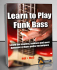 Learn to Play Funk Bass Tutorial - PDF + Mp3 Download