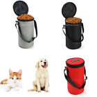 Portable Cat Dog Bird Food Storage Bag Travel Container Bowl with Handle 3Kg
