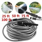 100 Ft Stainless Steel Metal Garden Water Hose Lightweight Flexible Resistant MX