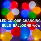 LED FLASHING COLOUR CHANGING LED BULB BALLOONS PARTY WEDDING BIRTHDAY YOU CHOOSE