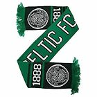 Celtic FC Official Nero Knitted Football Crest Supporters Scarf