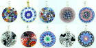 Sterling Silver Pendant Murano Glass Handmade From Venice Various Colours