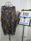 LuLaRoe NWT Irma XL Extra Large Black w/ Blue Purple Red Lime Fuchsia Floral