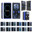 For Samsung Galaxy Note 8 N950 Hybrid Holster Belt Clip Case Stand Armor Blue