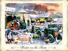 WINTER ON THE FARM OLD STEAM TRACTOR METAL PLAQUE TIN SIGN VINTAGE NOSTALGIC 322