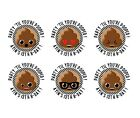 POOP EMOJI PERSONALIZED STICKER LABEL TAGS VARIETY SIZES PARTY TIL YOU'RE POOPED