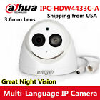 Dahua IPC-HDW4431C-A 4MP POE Security Dome IP Camera Build-in MIC IR 50M H.265