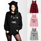 Womens Casual Loose Hooded Long Sleeve Hoodies Tops