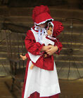 Matching Doll Set and Child Costume American Pioneer Girl Red Child sz 4-14