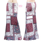 Women's LONG SKIRT Plus Paisley Floral Geometric Quilt Maxi S/M/L/XL/1XL/2XL/3XL