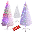 Pre-Lit 3-8ft White Artificial Christmas Tree Multicolor Lights Holiday Season