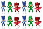 PJ Masks Edible Wafer Cup Cake Toppers Standing or Disc