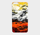Cell Phone Case for Iphone Samsung Abstract 17 orange white yellow black L.Dumas