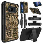 For Samsung Galaxy S8 Active Hybrid Stand Hard Clip Case Cover +Screen Protector
