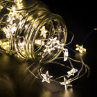 LED Stars Fairy String Lights Indoor Room Xmas Christmas Party Decor Waterproof