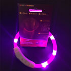 Rechargeable USB Collar Band LED Flashing Light Dog Pet Safety Belt DIY Collar