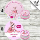 ANGELINA BALLERINA EDIBLE ROUND BIRTHDAY CAKE TOPPER DECORATION PERSONALISED
