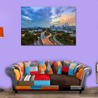 Modern Bustling city Oil Painting Canvas Print Picture Home Wall Decor Unframed
