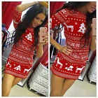 New Women Autumn Winter Long Sleeve Knit Bodycon Sweater Mini Dress Knitwear