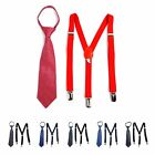 Boy's Matching Zipper Tie and Suspenders Set (BSZT47)