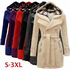 womens long winter coats - Women's Warm Winter Hooded Long Jacket Outwear Parka Tops Overcoat Pea Coat Plus
