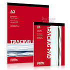 Tracing Paper Pad, choice of A4 or A3, 30 sheets, quality 90gsm, by Seawhite