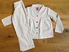 GIRLS NEW JOULES SPRING SUMMER LONG PYJAMAS SPOTTY PJS 3-4 YRS UNWANTED GIFT