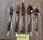 """Mikasa Pinnacle Gold stainless """"your choice"""" unused/excellent"""