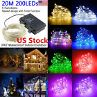 20M 200LED Light String Strip Copper Wire Fairy Lamp Timer Battery Operated Xmas