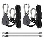 Hydroponics Rope Ratchet Pairs of Hangers For CFL Reflectors HPS MH lights UK