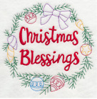 Embroidered 18x28 Flour Sack Kitchen Towel CHRISTMAS WREATHS 7 Choices! SANTA