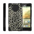 For ZTE Warp Elite N9518 Dual Layer Hybrid Kickstand Fitted Case Cover