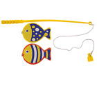 Mini Magnetic Fishing Game Hook Rod Fish Miniature Angling Toy Catch Sea Classic