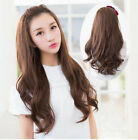 Natural Wavy 100% Indian Remy Human Hair Half Wig Wavy Hair Machine Weft Cap