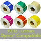 Dymo 99012 Colours Compatible Labels - FAST FREE SHIPPING - Multi Roll Discount