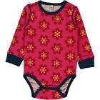 BNWT Baby Girls Maxomorra Anemone Long Sleeved Bodysuit NEw Organic Vest Top