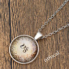 Charms OM Symbol Cabochon Glass Nacklace Pendant Jewlery Charm Gift Ornaments